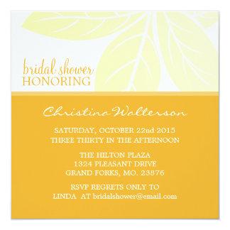 Square Elegant Golden Glow Bridal Shower 13 Cm X 13 Cm Square Invitation Card