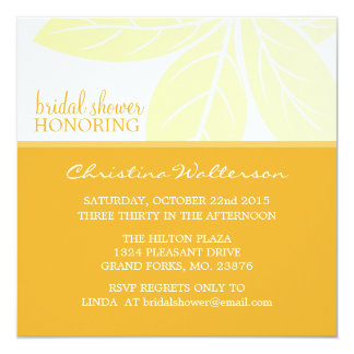Square Elegant Golden Glow Bridal Shower 13 Cm X 13 Cm Square Invitation Card