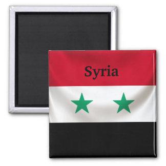 Square flag of Syria, ceremonial draped Square Magnet