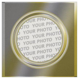 Square Frame contour I + your photo Fabric