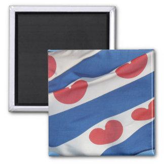 Square Frisian Flag (Fryslan) Fridge Magnet