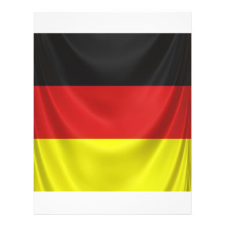 square german flag draped personalized flyer