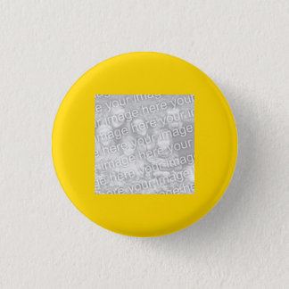 Square Gold Border Photo 3 Cm Round Badge