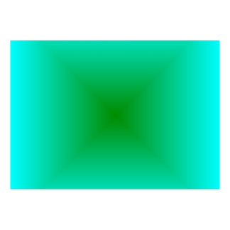 Square Gradient - Cyan and Green Business Cards