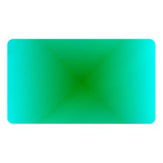 Square Gradient - Cyan and Green Business Card