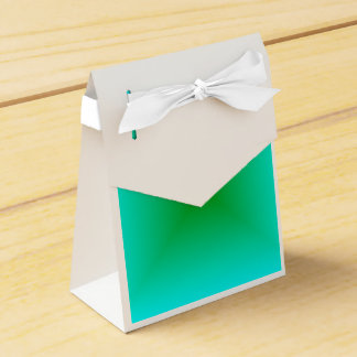 Square Gradient - Cyan and Green Favor Box