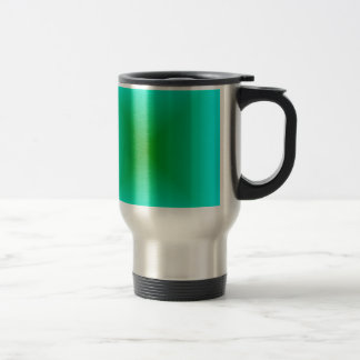 Square Gradient - Cyan and Green Coffee Mugs