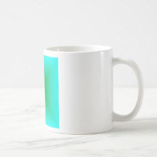 Square Gradient - Cyan and Green Mug