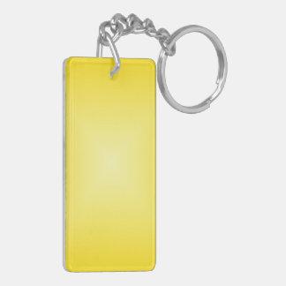 Square Gradient - Dark Yellow and Light Yellow Keychains