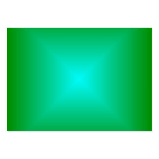 Square Gradient - Green and Cyan Business Card