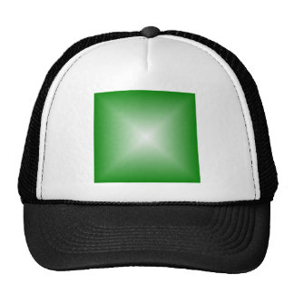Square Gradient - Green and White Mesh Hats
