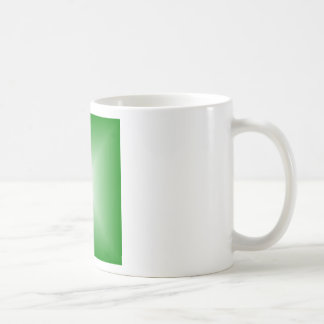 Square Gradient - Green and White Mug