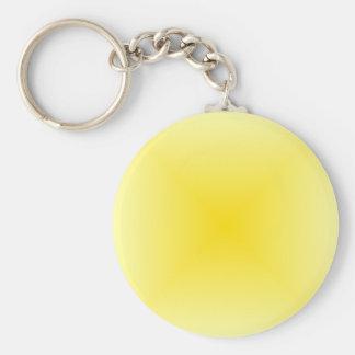 Square Gradient - Light Yellow and Dark Yellow Keychain