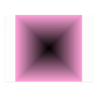 Square Gradient - Pink and Black Postcard