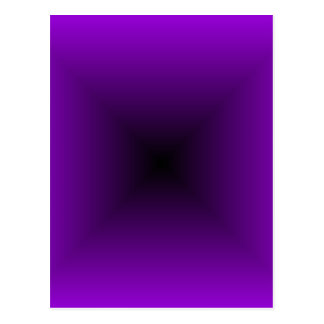 Square Gradient - Violet and Black Postcard