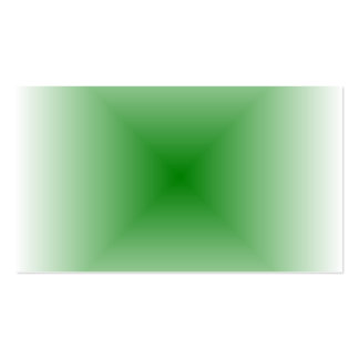 Square Gradient - White and Green Business Cards