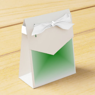 Square Gradient - White and Green Favor Boxes