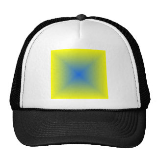 Square Gradient - Yellow to Blue Trucker Hat