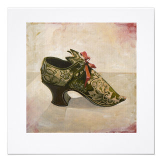 Square Greetings Card - 'Antique Shoe'