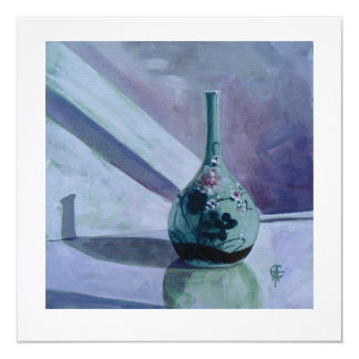 Square Greetings Card - 'Oriental Vase'