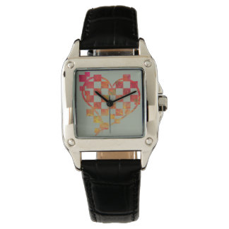 Square heart watch