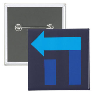 Square Hebrew Hillary Button