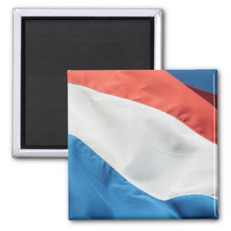 Square Holland Flag Fridge Magnets