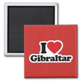 Square I Love Gibraltar Magnet