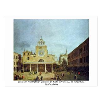Square In Front Of San Giacomo Di Rialto In Venice Postcard