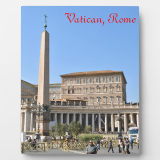 Square in Rome, Italy Plaque