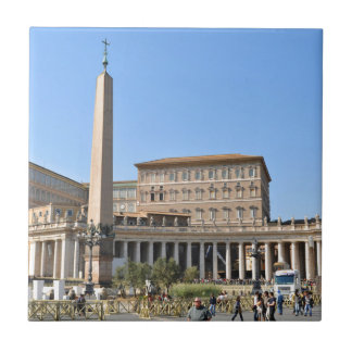 Square in Rome, Italy Tile