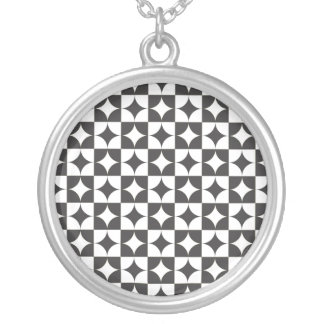 square intersecting circle custom necklace