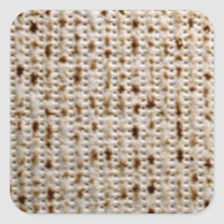 Square Jewish Matzo Stickers