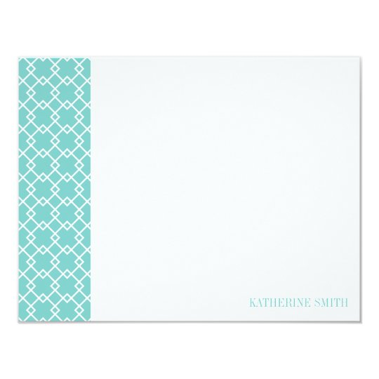 Square Lattice Geometric Pattern {Mint} Card