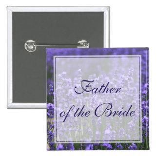 Square Lavender Father of the Bride Wedding Button