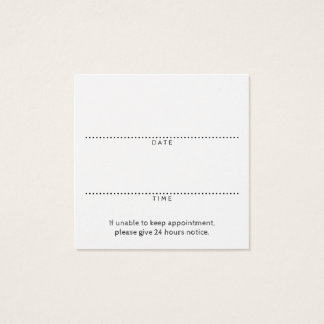 square logo appointment reminder square business card