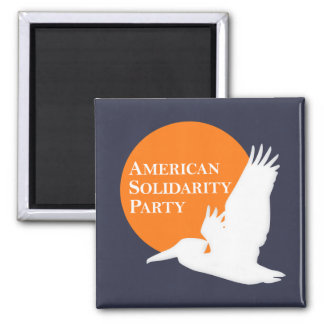 Square Magnet with Orange & White ASP Logo
