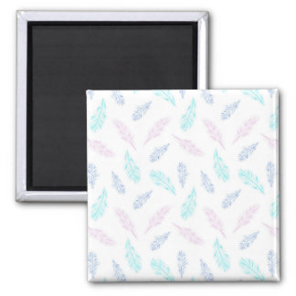 Square magnet with pencil feathers