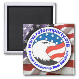 Square Magnet with Reform Party Logo