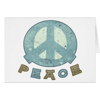 Square Meal Peace Sign Greeting Card