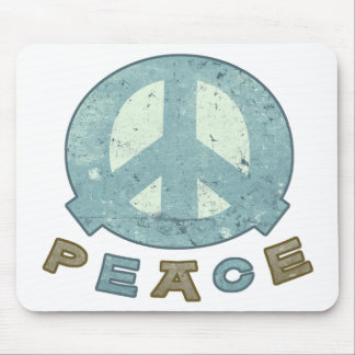 Square Meal Peace Sign Mouse Pad