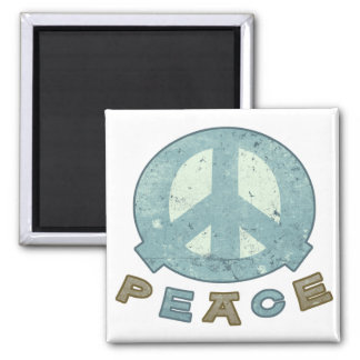 Square Meal Peace Sign Refrigerator Magnets