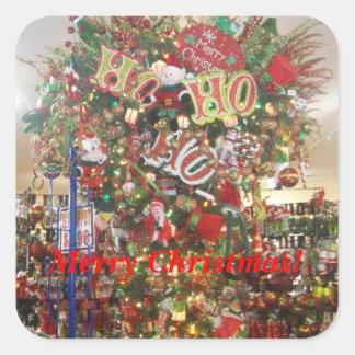 Square Merry Christmas Sticker