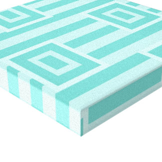 Square Mint Green Wrapped Canvas