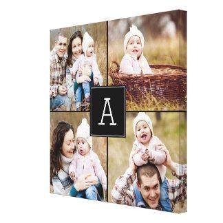 Square Monogram Custom Photo Canvas Canvas Print