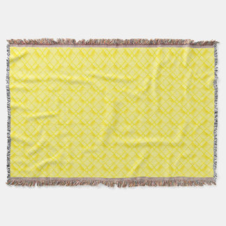 Square Oblong Circle From Yellow Textured Shapes Throw Blanket