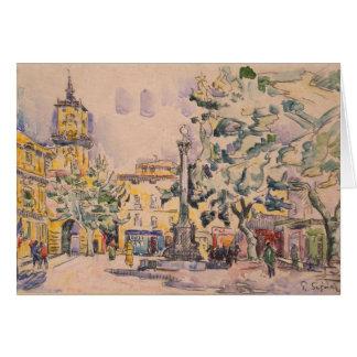 Square of the Hotel de Ville in Aix-en-Provence Card