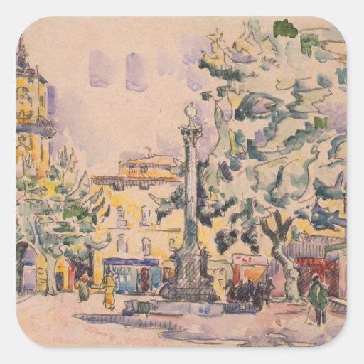 Square of the Hotel de Ville in Aix-en-Provence Sticker