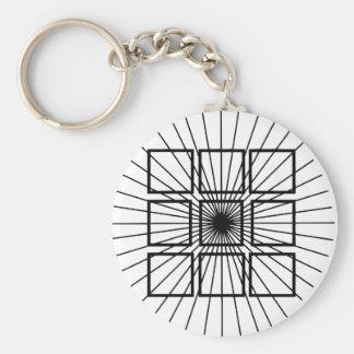 Square Optical Illusion Key Chain