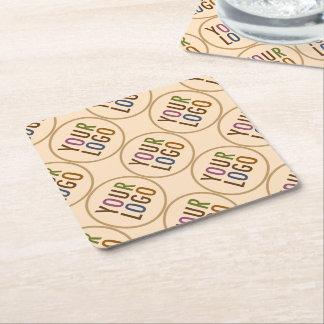 Square Paper Coasters Custom Logo Promotional Bulk